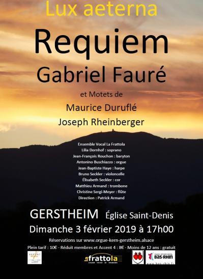 La Frattola en concert à Gerstheim - Requiem de Fauré