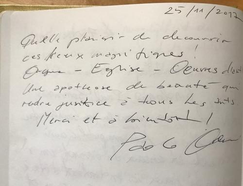 Livre d'Or Paolo Oreni